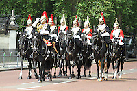 Household Cavalry Queen's Birthday Parade Trooping The Colour, London, UK, 12 June 2010. For piQtured Sales contact: Ian@piqtured.com Tel: +44(0)791 626 2580 (Picture by Richard Goldschmidt/Piqtured)
