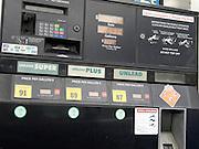 close up of gasoline pump USA
