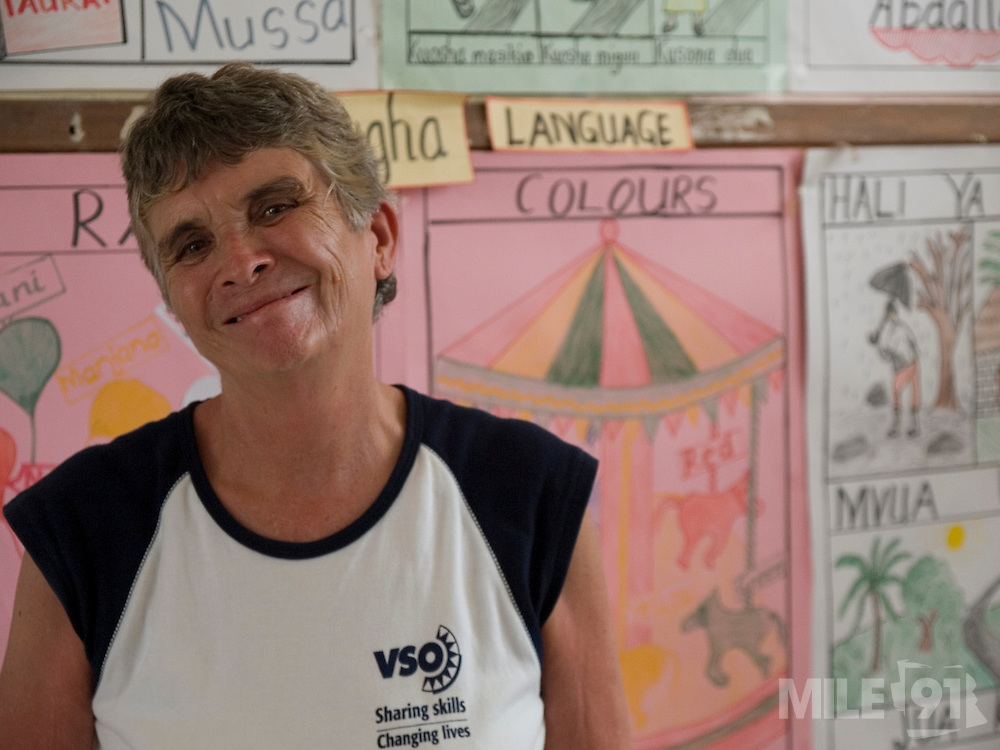 VSO volunteer, Daphne Sharpe is working as a teacher trainer at Saatnei nursery school, Zanziba, Tanzaniar. Daphne has now trained over 100 nusery school teachers and 18 heads of pre school.