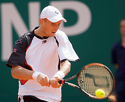 MONTE-CARLO, MONACO - Friday, April 25, 2008: Nikolay Davydenko (RUS) during the fourth round of the Masters Series Monte-Carlo at the Monte-Carlo Country Club. (Photo by David Rawcliffe/Propaganda)