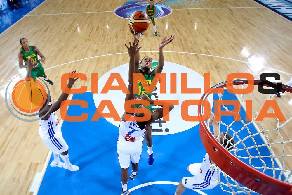 DESCRIZIONE : Ankara Turkey Turchia FIBA Basketball World Championship for Women Turkey 2014 Qualification to 1/4 Finals France Brazil Francia Brasile<br /> GIOCATORE : Damiris Dantas<br /> CATEGORIA : <br /> SQUADRA : Brasile Brazil<br /> EVENTO : FIBA Basketball World Championship for Women Turkey 2014<br /> GARA : France Brazil Francia Brasile<br /> DATA : 01/10/2014<br /> SPORT : Pallacanestro <br /> AUTORE : Agenzia Ciamillo-Castoria/ElioCastoria<br /> Galleria : FIBA Basketball World Championship for Women Turkey 2014<br /> Fotonotizia : Ankara Turkey Turchia FIBA Basketball World Championship for Women Turkey 2014 Qualification to 1/4 Finals France Brazil Francia Brasile