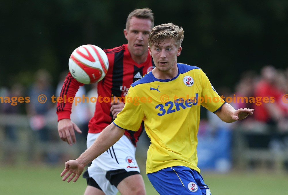 Crawley&rsquo;s Jake Kempson in action during the Pre season friendly between Billingshurst Football Club and Crawley Town at the Jubilee Fields in Billingshurst. July 11, 2014.<br /> James Boardman / TELEPHOTO IMAGES