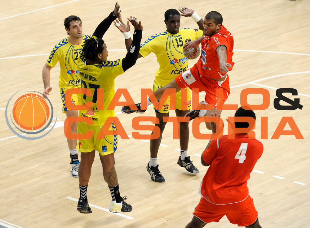 DESCRIZIONE : France Ligue Hand Coupe de France Paris Toulouse 8 iemes de Finale 05/03/2010<br /> GIOCATORE : Claire Nicolas Sorhaindo Cedric<br /> SQUADRA : Paris Toulouse<br /> EVENTO : France Hand Coupe de France Paris Toulouse<br /> GARA : Paris Toulouse<br /> DATA : 05/03/2010<br /> CATEGORIA : Handball Paris Homme <br /> SPORT : HandBall<br /> AUTORE : JF Molliere par Agenzia Ciamillo-Castoria <br /> Galleria : France Hand Coupe de France Homme 2009/2010  <br /> Fotonotizia : France Hand Coupe de France Paris Toulouse 8 iemes de Finale 05/03/2010<br /> Predefinita :