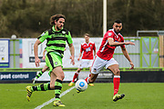 Forest Green Rovers Darren Carter(12) runs forward during the Vanarama National League match between Forest Green Rovers and Wrexham FC at the New Lawn, Forest Green, United Kingdom on 18 March 2017. Photo by Shane Healey.