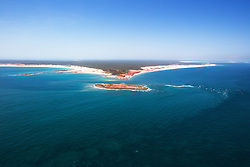 Aerial image of Cape Leveque on the Kimberley coast's Dampier Peninsula