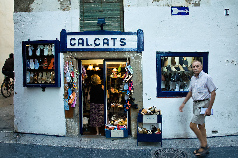 Shoe shop in the seaside town of Sitges, Barcelona