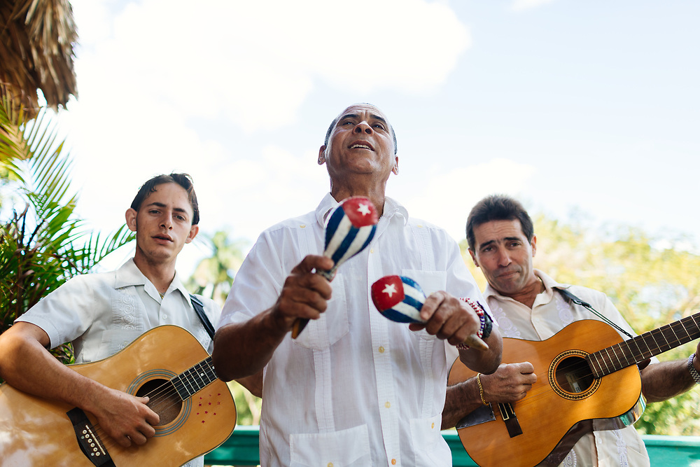 Band sings in Vinales, Cuba