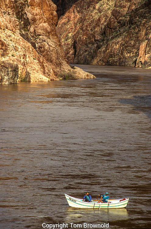 The Inner Granite Gorge of the Colorado river in Grand Canyon National Park. Pulling in for camp.