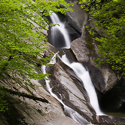 Hamilton Falls in Vermont's Jamaica State Park.  Green Mountains.  Cobb Brook, a West River tributary.