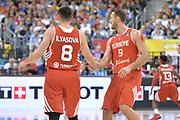 DESCRIZIONE : Berlino Berlin Eurobasket 2015 Group B Turkey Italy <br /> GIOCATORE : Ersan Ilyasova Semih Erden<br /> CATEGORIA :Esultanza mani<br /> SQUADRA : Turkey<br /> EVENTO : Eurobasket 2015 Group B <br /> GARA : Turkey Italy<br /> DATA : 05/09/2015 <br /> SPORT : Pallacanestro <br /> AUTORE : Agenzia Ciamillo-Castoria/Mancini Ivan<br /> Galleria : Eurobasket 2015 <br /> Fotonotizia : Berlino Berlin Eurobasket 2015 Group B Turkey Italy