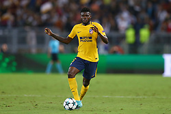 September 12, 2017 - Rome, Italy - Thomas Partey of Atletico  during the UEFA Champions League Group C football match between AS Roma and Atletico Madrid on September 12, 2017 at the Olympic stadium in Rome. (Credit Image: © Matteo Ciambelli/NurPhoto via ZUMA Press)