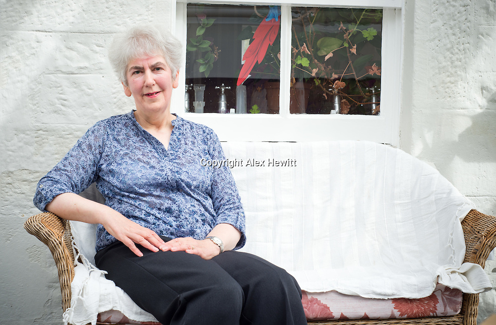 Elizabeth Cumming - Great niece of the painter William Skeoch Cumming poses at her Edinburgh home. 9th September 2014<br /> <br /> Photograph copyright Alex Hewitt<br /> No reproduction without prior agreement<br /> alex.hewitt@gmail.com<br /> 07789 871540