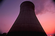 Cooling tower at nuclear power plant.