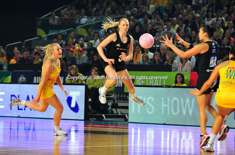 Laura Langman (NZ)<br /> 2011 Holden Netball Test Series<br /> Australia vs New Zealand <br />  Sunday 30 October 2011<br /> Hisense Arena/ Melbourne Australia <br /> &copy; Sport the library / Jeff Crow