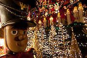 A toy soldier, Christmas trees, angels and more decorate this house.