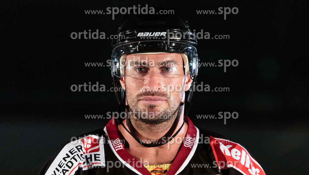 10.08.2015, Red Bull Akademie Liefering, Salzburg, AUT, EBEL, Medien Tag, im Bild Rafael Rotter (Vienna Capitals) // during the Erste Bank Icehockey League Media Day at the Red Bull Football and Icehockey Academy Liefering in Salzburg, Austria on 2015/08/10. EXPA Pictures © 2015, PhotoCredit: EXPA/ JFK