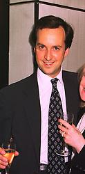 Restauranter MR DAVID LOEWI, at a party in London on 9th July 1998. MIZ 29 MO