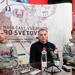 20110404: SLO, Ice Hockey - Press conference of Slovenian National Team