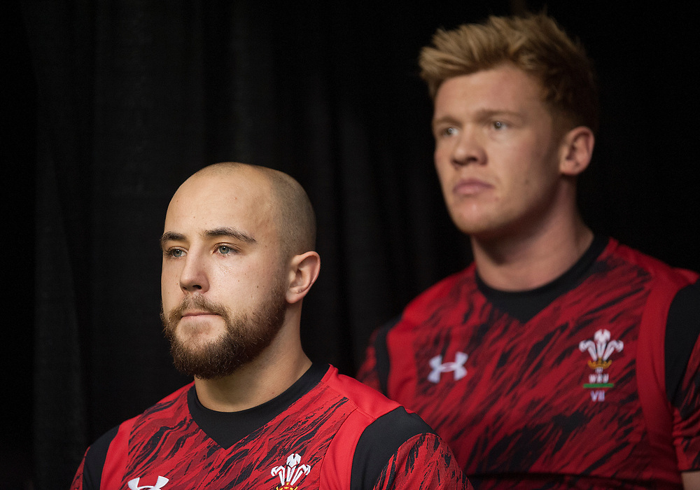 Luke Treharne and Sam Cross of Wales during the pool stages of the Canada Sevens,  Round Six of the World Rugby HSBC Sevens Series in Vancouver, British Columbia, Saturday March 11, 2017. <br /> <br /> Jack Megaw.<br /> <br /> www.jackmegaw.com<br /> <br /> jack@jackmegaw.com<br /> @jackmegawphoto<br /> [US] +1 610.764.3094<br /> [UK] +44 07481 764811
