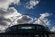 #OnlyInTheNFL display on the Wembley screen during the International Series match between Indianapolis Colts and Jacksonville Jaguars at Wembley Stadium, London, England on 2 October 2016. Photo by Jason Brown.