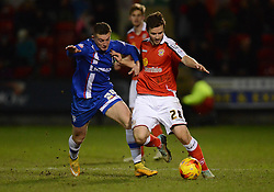 Gillingham's Ben Dickenson competes with Crewe Alexandra's Jamie Ness  - Photo mandatory by-line: Richard Martin-Roberts - Mobile: 07966 386802 - 10/01/2015 - SPORT - Football - Crewe - Alexandra Stadium - Crewe Alexandra v Gillingham - Sky Bet League One