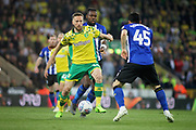 Norwich City midfielder Marco Stiepermann (18) during the EFL Sky Bet Championship match between Norwich City and Sheffield Wednesday at Carrow Road, Norwich, England on 19 April 2019.