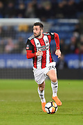 Sheffield United defender Danny Lafferty (24) during the The FA Cup match between Leicester City and Sheffield Utd at the King Power Stadium, Leicester, England on 16 February 2018. Picture by Jon Hobley.