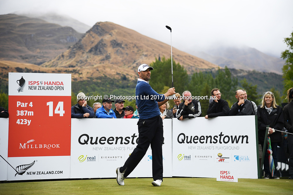 New Zealand's Michael Hendry on day 4 at the 2017 ISPS Handa New Zealand Golf Open. Millbrook, Arrowtown. New Zealand. Sunday 12 March 2017. © Photo: Andrew Cornaga / www.photosport.nz