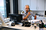 Are Høidal, the director of the luxurious Halden Fengsel, (prison) is talking at the phone while sitting at his desk, in Halden, near Oslo, Norway.