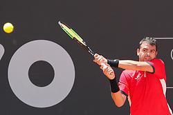 February 27, 2017 - Inigo Cervantes (ESP) em partida contra Renzo Olivo (ARG) durante o Brasil Open 2017 realizada no Esporte Clube Pinheiros em São Paulo (SP) (Credit Image: © Jales Valquer/Fotoarena via ZUMA Press)