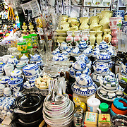 Ceramic goods for sale at Cho Dong Ba, the main city market in Hue, Vietnam.
