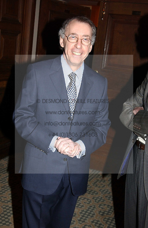 The French ambassador to the UK GERARD ERRERA at a dinner hosted by footballer Patrick Vieira and the Diambars UK Charital Trust at The Landmark Hotel, 222 Marylebone Road, London NW1 on 3rd February 2005.<br />