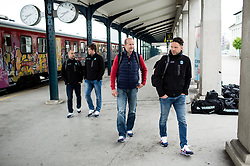 Nik Zupancic, head coach and Gaber Glavic during departure to Budapest of Slovenian Ice Hockey National Team, on April 17, 2017 in Railway station, Ljubljana, Slovenia. Photo by Vid Ponikvar / Sportida