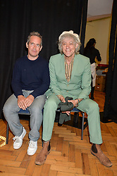Left to right, TOM HOLLANDER and SIR BOB GELDOF at a lunch in aid of the charity African Solutions to African Problems (ASAP) held at the Royal Horticultural Hall, Vincent Square, London on 19th May 2016.