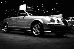 jaguar s type as seen at the Chicago Auto Show in February 2001 at McCormick Place, Chicago Illinois...This image was scanned from a slide, print or transparency.  Image quality may vary.  Dust and other unwanted artifacts may exist.
