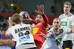 Sarmiento Daniel of Spain during handball match between National teams of Germany and Spain on Day 7 in Main Round of Men's EHF EURO 2018, on January 24, 2018 in Arena Varazdin, Varazdin, Croatia. Photo by Mario Horvat / Sportida