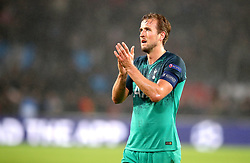 Tottenham Hotspur's Harry Kane acknowledges the fans after the final whistle