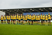 The Australian side before the World Rugby U20 Championship  match England U20 -V- Australia U20 at The AJ Bell Stadium, Salford, Greater Manchester, England on June  15  2016, (Steve Flynn/Image of Sport)