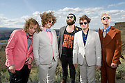 George, WA. - May 28th, 2012 Deer Tick poses for a portrait backstage at the Sasquatch Music Festival in George, WA. United States