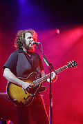 Jim James of My Morning Jacket perform on the second day of the 2008 Bonnaroo Music & Arts Festival on June 13, 2008 in Manchester, Tennessee. The four-day music festival features a variety of musical acts, arts and comedians. Photo by Bryan Rinnert