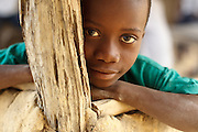 Portrait of a boy in the village of Popoko, Bas-Sassandra region, Cote d'Ivoire, on Sunday March 4, 2012.