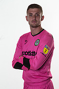 Forest Green Rovers goalkeeper Adam Smith(1) during the official team photocall for Forest Green Rovers at the New Lawn, Forest Green, United Kingdom on 29 July 2019.