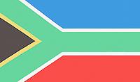 Full-frame shot of South African flag