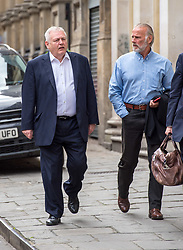 © Licensed to London News Pictures.  13/06/2018; Bristol, UK. Defendants l-r: JONATHAN REES, and DONALD MALISKA arrives at Bristol Crown Court in connection with the Bulmer art burglary. Eleven men appeared at court charged with offences including conspiracy to burgle and conspiracy to receive stolen goods, linked to the theft of millions of pounds of artwork and jewellery from the Bulmer cider-making family's luxury home. The 11 men are: Liam Judge, Matthew Evans, Skinder Ali, Jonathan Rees, Donald Maliska, Mark Regan, David Price, Ike Obiamiwe, Thomas Lynch, Nigel Blackburn, Azhar Mir. Paintings worth £1.7m and jewellery worth £1m were stolen from Esmond and Susie Bulmer's home in Bruton, Somerset, in 2009. Most of the paintings stolen during the burglary, such as Endymion by 19th Century painter George Frederic Watts have since been recovered. Photo credit: Simon Chapman/LNP