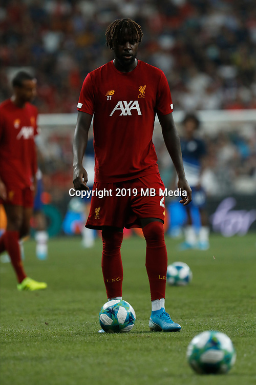 ISTANBUL, TURKEY - AUGUST 14: Divock Origi of Liverpool looks on during the warm-up ahead of the UEFA Super Cup match between Liverpool and Chelsea at Besiktas Park on August 14, 2019 in Istanbul, Turkey. (Photo by MB Media/Getty Images)
