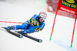 Luca De Aliprandin of Italy competes during 1st run of Men's GiantSlalom race of FIS Alpine Ski World Cup 57th Vitranc Cup 2018, on March 3, 2018 in Kranjska Gora, Slovenia. Photo by Ziga Zupan / Sportida