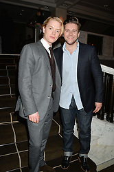 Left to right, FREDDIE FOX and ALLEN LEECH at the Old Vic 24 Hour Plays Celebrity Gala held at the Rosewood Hotel, 252 High Holborn, London on 24th November 2013.
