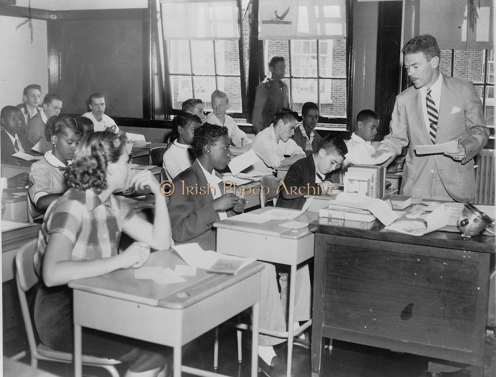 Integrated High School USA circa 1957.