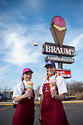 Braum's cover shoot for Oklahoma Living Magazine - best ice cream in Oklahoma