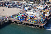The picturesque beach and Santa Monica Pier.